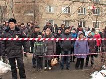 Оцепление на месте обрушения многоквартирного дома в Ярославле