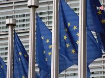 Флаги Евросоюза у штаб-квартиры ЕС в Брюсселе