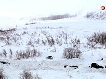 Место схода лавины в Кировске