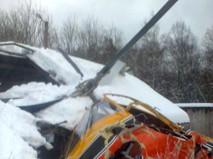 Жесткая посадка вертолета в Ленинградской области