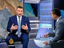 Виталий Кличко дает интервью