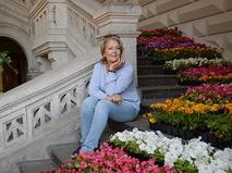 Ирина Алфёрова на фестивале цветов в ГУМе