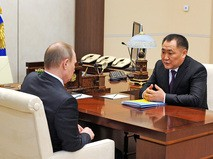 Президент России Владимир Путин и глава Республики Тыва Шолбан Кара-оол