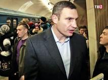 Виталий Кличко в метро