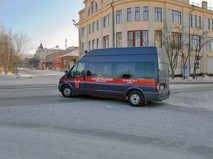 Микроавтобус Следственного комитета при прокуратуре России