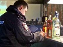 Полиция изьяла алкоголь