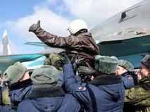 Прибытие экипажей ВКС России из Сирии