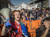 Протестная акция студентов во Франции
