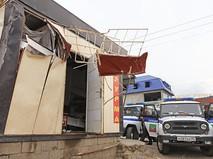 На месте взрыва АЗС в Дагестане