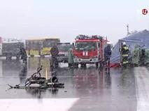 Штаб МЧС на месте крушения пассажирского самолета Boeing-737-800 в аэропорту Ростова-на-Дону