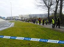 Место взрыва в Брюсселе