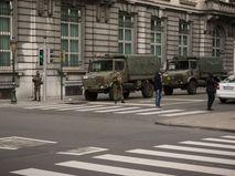 Военные в центре Брюсселя