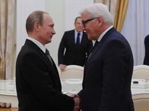 Путин и Штайнмайер на встрече в Кремле
