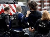 Полиция Бельгии во время задержания подозреваемого в совершении теракта в Брюсселе