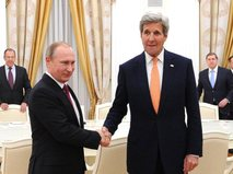 Владимир Путин и Джон Керри