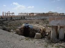 Разрушенная в результате боевых действий историческая часть Пальмиры