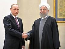 Президент России Владимир Путин и президент Республики Иран Хасан Рухани