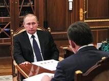 Президент России Владимир Путин и губернатор Свердловской области Евгений Куйвашев
