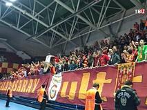 Турецкие болельщики на трибунах