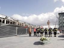 Разрушенный терминал аэропорта Брюсселя