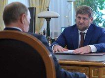 Владимир Путин и Разман Кадыров