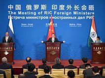 Встреча глав МИД России, Индии и Китая в 2015 году