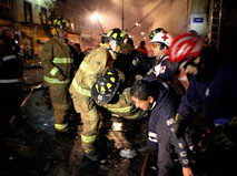 Пожарные в Мексике
