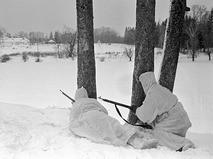Разведчики у Ясной поляны во время Великой Отечественной войны