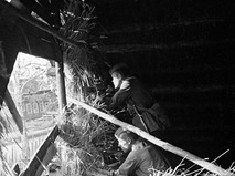 Разведчики в засаде во время Великой Отечественной войны