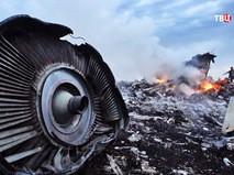 Место крушения малайзийского Boeing 777 на Украине