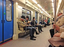 Пассажиры в метро