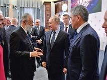 Президент России Владимир Путин и исследователь Арктики и Антарктики Артур Чилингаров