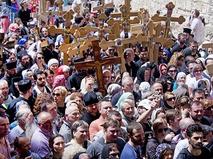 Православные паломники в Иерусалиме