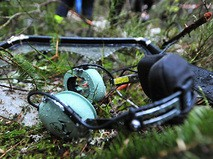 На месте крушения вертолета
