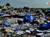 Кадр из фильма телеканала BBC о крушении малазийского Boeing над Донбассом