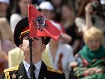 Учащийся кадетского корпуса на II Московском параде кадетов