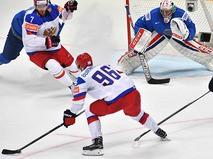 Чемпионат мира по хоккею. Матч Казахстан - Россия