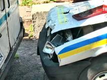 Последствия взрыва на полицейской базе в Украине