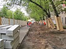 Работы по благоустройству улиц Москвы
