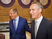 Глава МИД России Сергей Лавров и генсек НАТО Йенс Столтенберг