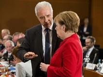 Канцлер Германии Ангела Меркель и премьер-министр Саксонии Станислав Тиллих