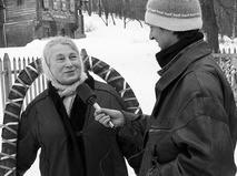 Любовь Соколова даёт интервью