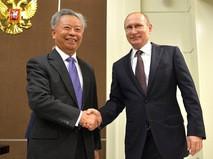 Встреча с главой Азиатского банка инфраструктурных инвестиций Цзинь Лицюнем