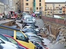 Провал грунта во Флоренции