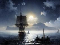 """Картина Ивана Айвазовского """"Лунная ночь на Капри"""""""