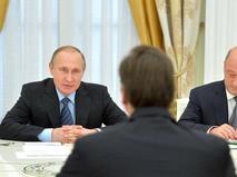 Президент России Владимир Путин на встрече с премьер-министром Сербии Александром Вучичем