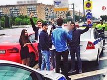 Участники гонок с полицией на Ленинском проспекте