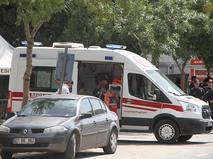 Скорая медицинская помощь и полиция Турции на месте происшествия