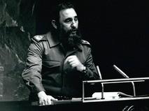 Фидель Кастро выступает в ООН