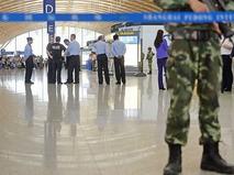 Полиция в аэропорту Шанхая